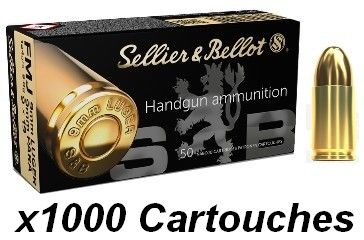SELLIER BELLOT cal.9 mm PARA FMJ 124grs /1000 Cartouches