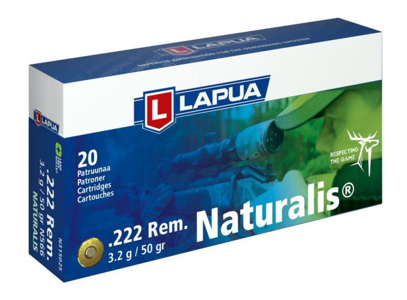 LAPUA cal.222 Rem NATURALIS 55gr - 3.2 grammes /20