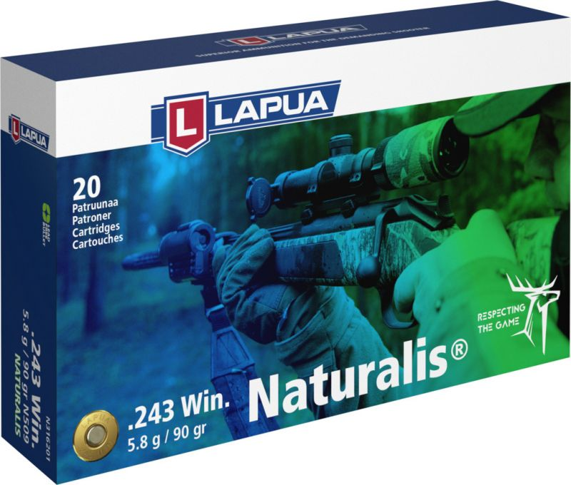 LAPUA cal.243 Win NATURALIS 90gr - 5.8 grammes /20