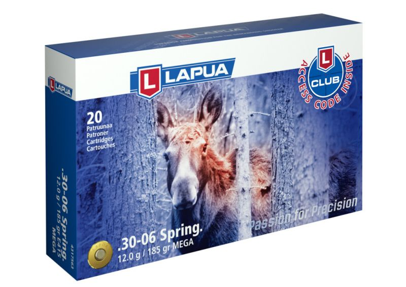 LAPUA cal.30-06 Sprg MEGA 185gr - 12 grammes /20
