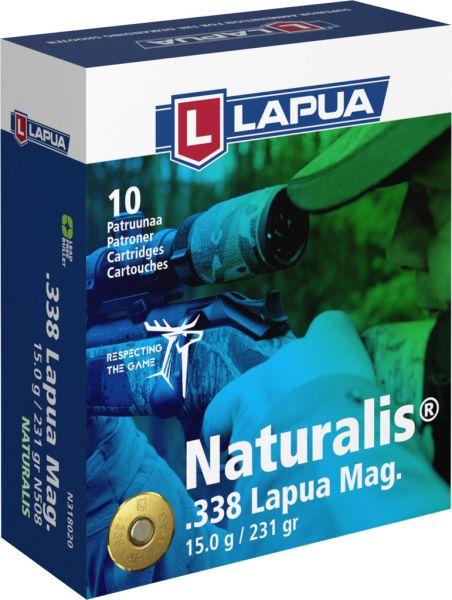 LAPUA cal.338 Lapua Mag NATURALIS 231gr - 15 grammes /10