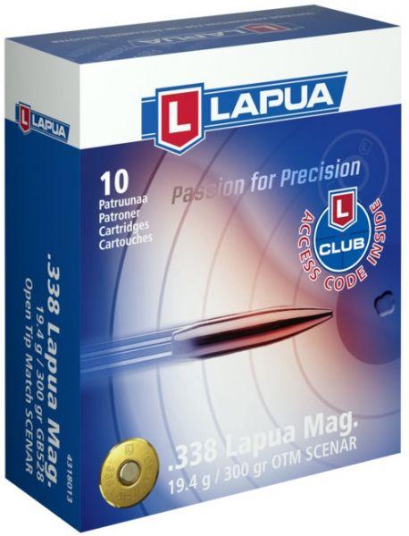 LAPUA cal.338 Lapua Mag Scenar 300gr - 19.4 grammes /10