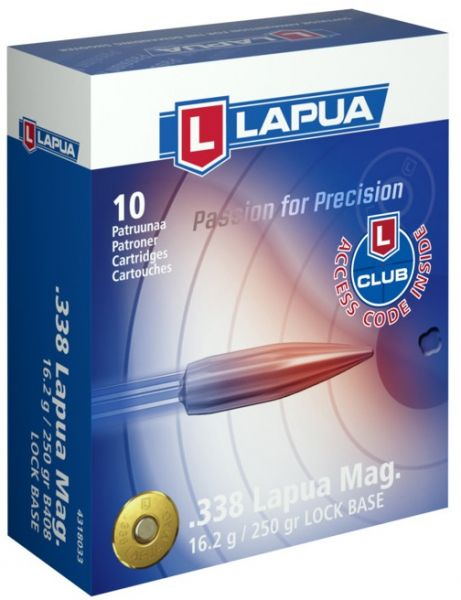 LAPUA cal.338 Lapua Mag Lock Base 250gr - 16.2 grammes /10