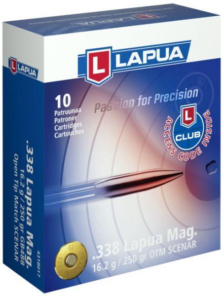 LAPUA cal.338 Lapua Mag Scenar 250gr - 16.2 grammes /10