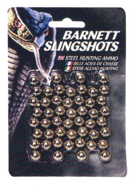 Billes 9mm pour Lance-pierres BARNETT en ACIER (50 billes)