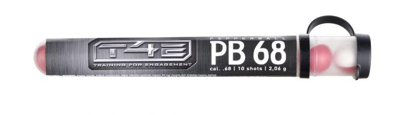 Tubes de 10 billes cal.68 au Gaz Poivre pour T4E - Walther SG68