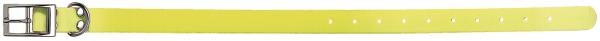 Collier pour chien Polyuréthane JAUNE Fluo taille 65 cm / largeur 25mm