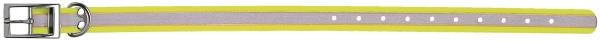 Collier pour chien Biothane BioGold Reflective JAUNE taille 60 cm / largeur 25mm