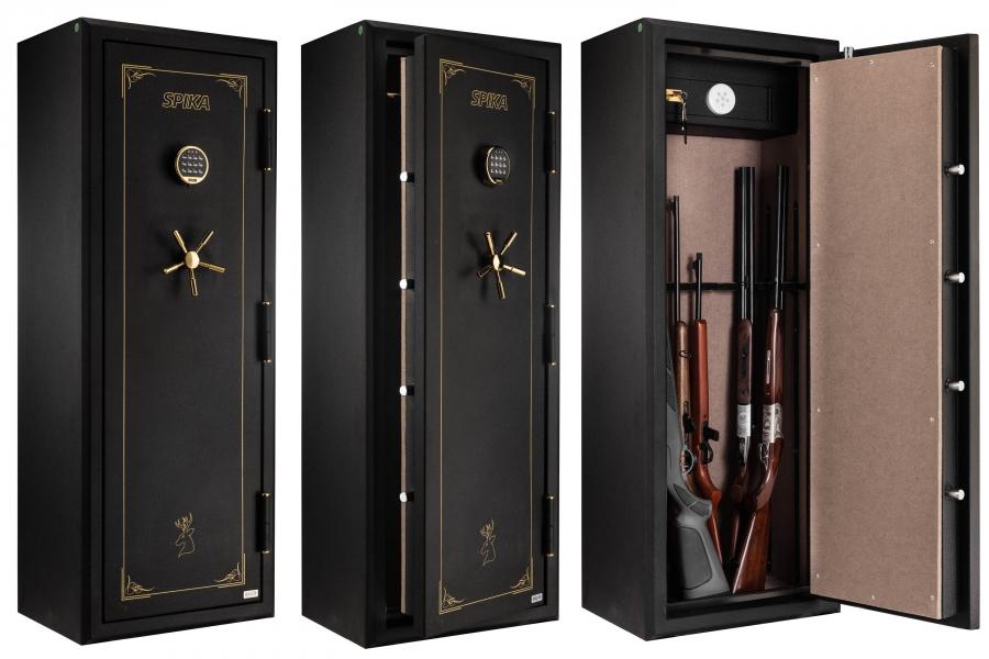 Coffre Fort Anti Feu Digital SPIKA 12 Armes Avec Lunettes (152kg)