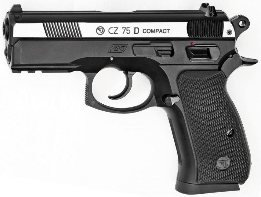 Pistolet CZ 75D Compact Dual Tone ASG cal.4,5mm