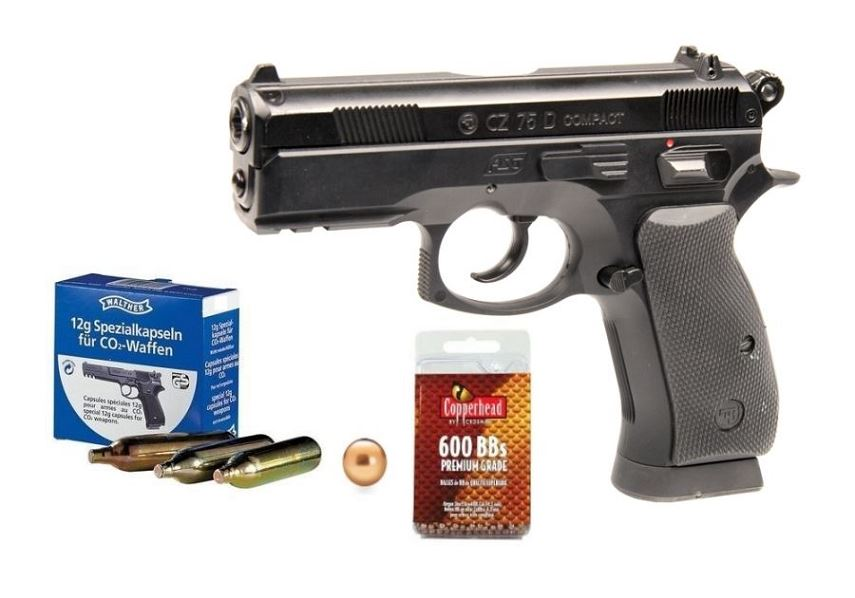 Pistolet CZ 75D Compact ''PACK'' ASG cal.4,5mm