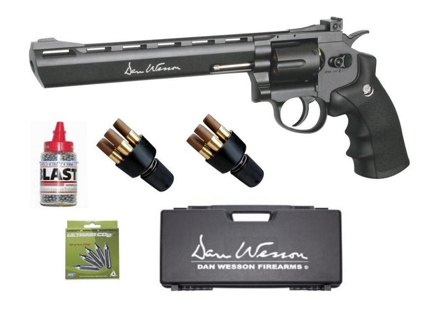 Revolver DAN WESSON 8'' ASG cal.4,5mm ''Pack mallette''