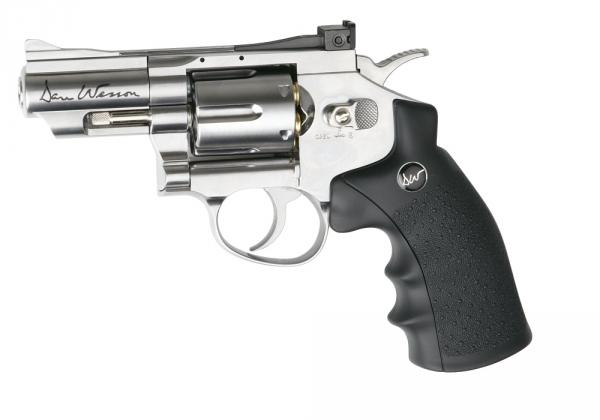 Revolver à billes Co2 DAN WESSON 2.5'' ASG Nickelé cal.4,5mm