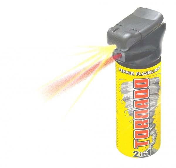 Bombe de defense TORNADO POLICE Flashlight 63 ml