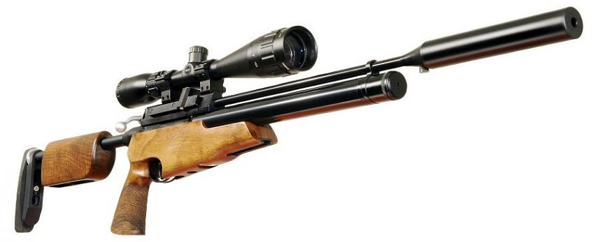 Carabine PCP AIR ARMS S410 TDR cal.4,5mm (16 joules) Démontable avec LYNX Varmint 6-24x42 AO