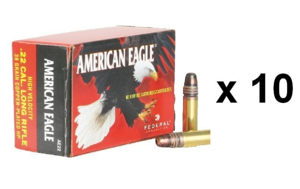 FEDERAL 22 Lr American Eagle HP lot de 400 cartouches