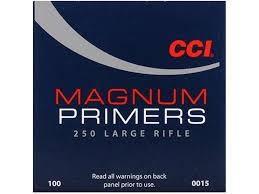 Amorces CCI Primers Magnum 250 Large Rifle /100