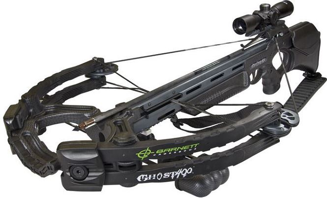 Arbal�te BARNETT GHOST 400 Carbon avec carquois et fl�ches (185 lbs)