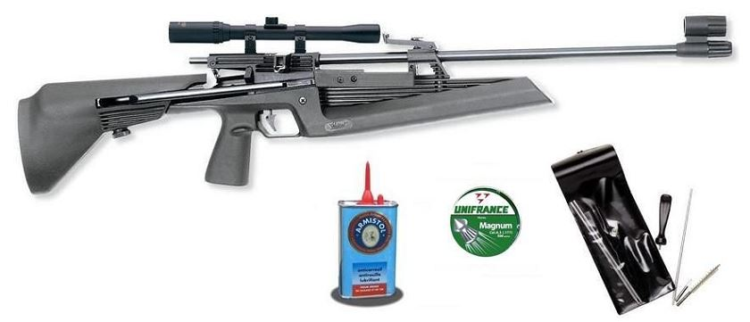 Carabine à plombs  BAIKAL MP 61 Combo ''PACK Lynx 4x20'' (chargeur 5 coups)