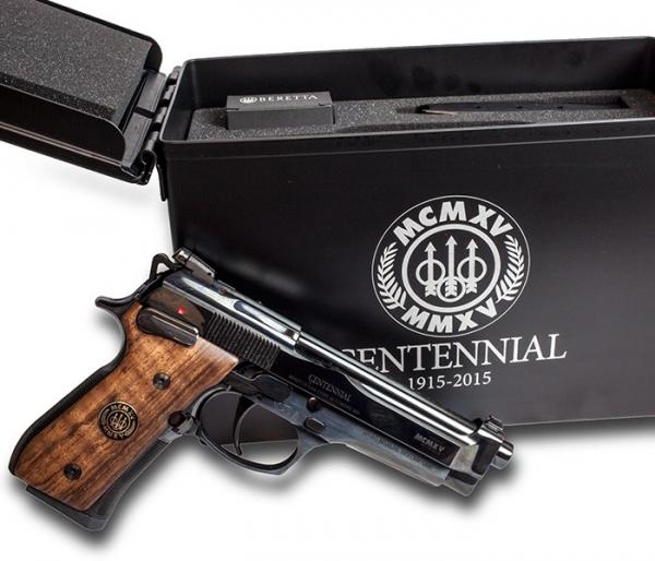 """Pistolet BERETTA 92FS Centennial """"Edition limitée"""" calibre 9x19"""