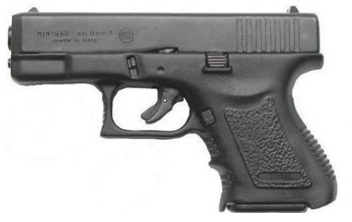 Pistolet à blanc BRUNI MINI GAP ''type GLOCK'' cal.9 mm
