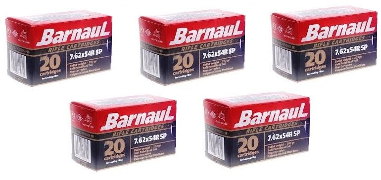 BARNAUL cal.7.62x54 R Soft Point (lot de 5 boites)