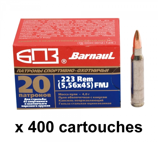 BARNAUL cal.223 Rem FMJ /400