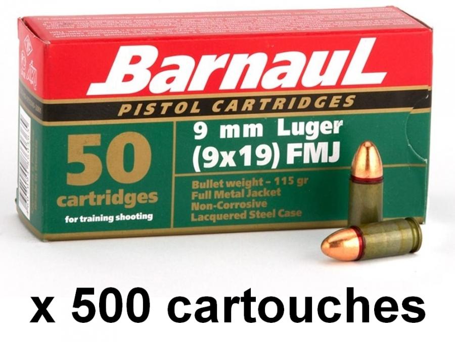BARNAUL cal.9mm PARA FMJ /500 Cartouches