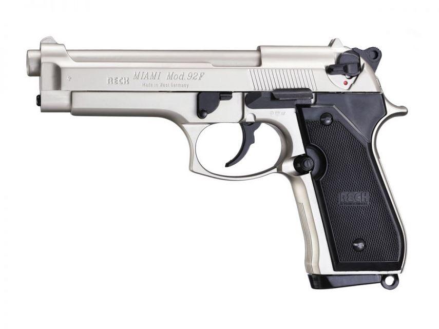 Pistolet BERETTA 92F Miami Nickel� cal.9mm PA UMAREX