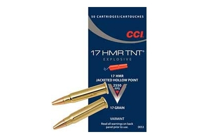CCI 17 HMR TNT Jacketed Hollow Point /50