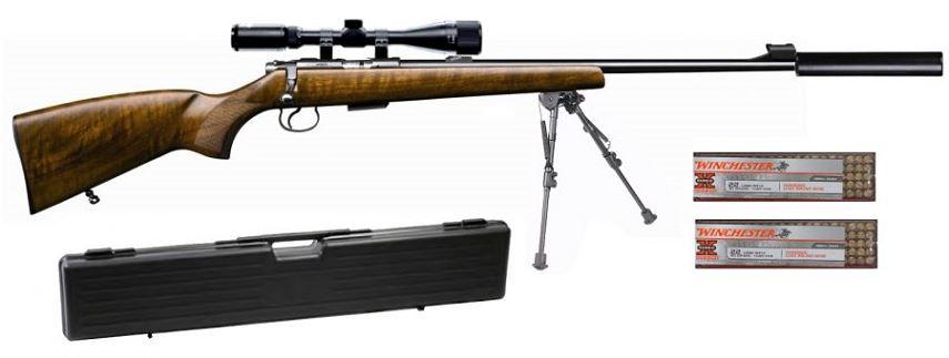 Carabine 22LR CZ 455 Luxe avec lunette LYNX Varmint 6-24x42 AO ''Kit SNIPER HARRIS''