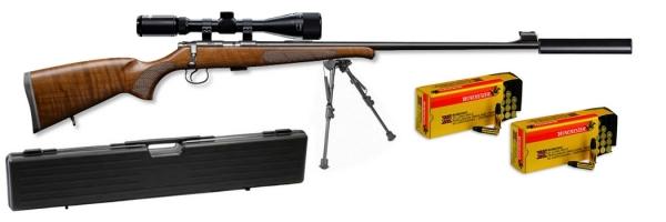 Carabine 22LR CZ 455 Luxe II avec lunette LYNX Varmint 6-24x42 AO ''Kit SNIPER HARRIS''