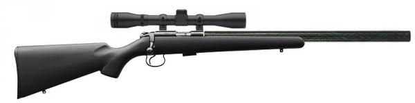 Carabine 22LR CZ 455 Silence Synth�tique avec lunette BAUER 3-9x40