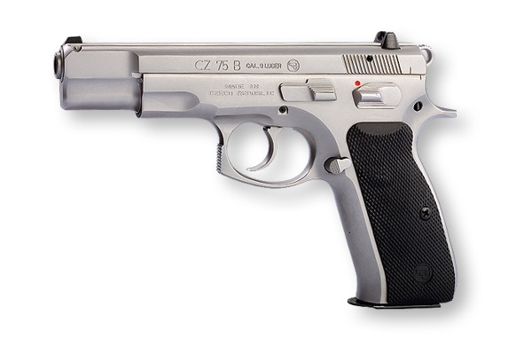 Pistolet CZ 75 B INOX calibre 9x19