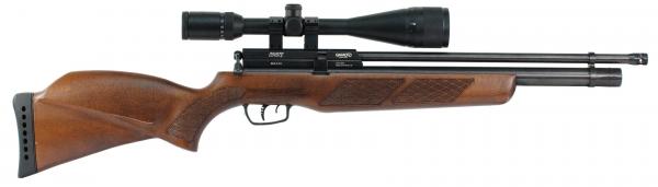 Carabine PCP GAMO Coyote Bois (40 J) Cal.5,5mm avec lunette GAMO 6-24x50 et pompe