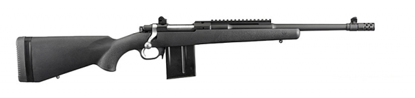RUGER SCOUT Gunsite Synth�tique Bronz� avec cache flamme cal.308 win