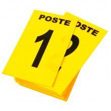 Cartes de Poste Numérotées 6 x 10 cm - Jaune (paquet de 24)