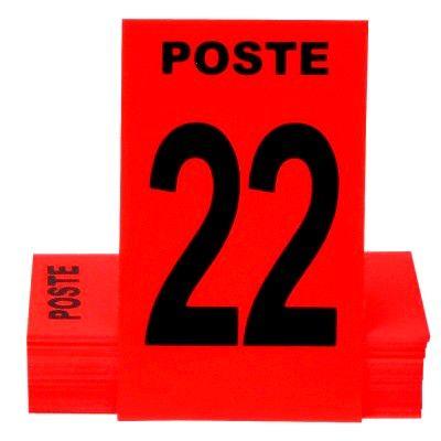 Cartes de Poste Numérotées 6 x 10 cm - Rouge (paquet de 24)