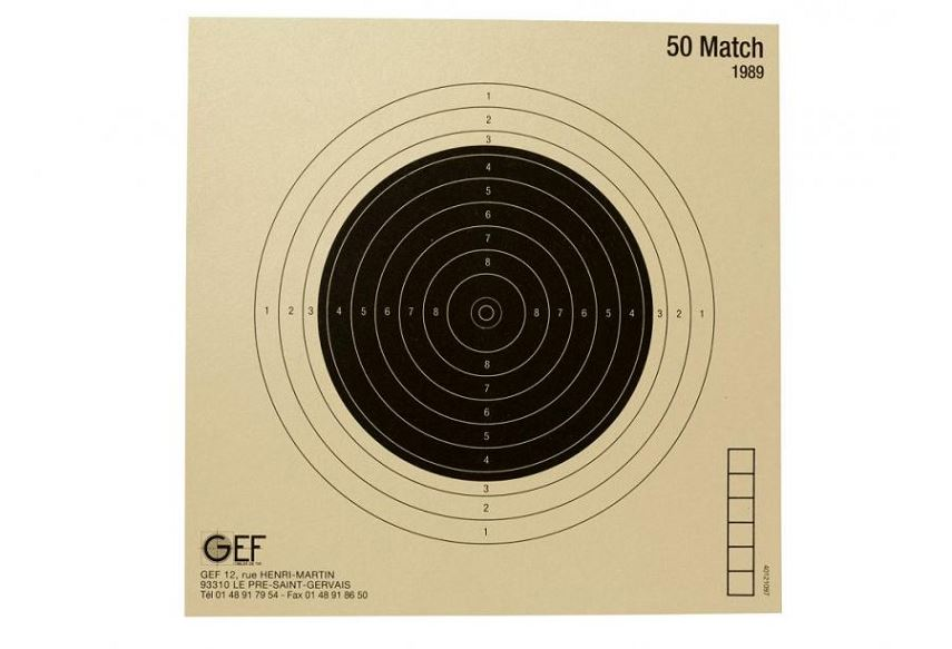 Cibles 50 Match 20x20 cm (paquet de 100)