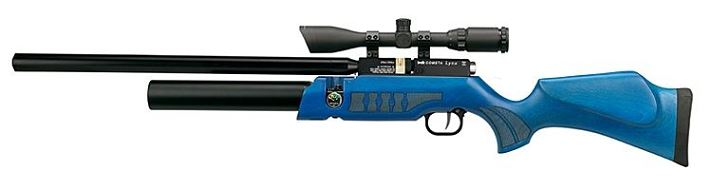 Carabine PCP COMETA Lynx V10 Bois Bleu (8 � 25 joules) cal.4,5mm avec lunette LYNX Varmint 6-24x42 AO