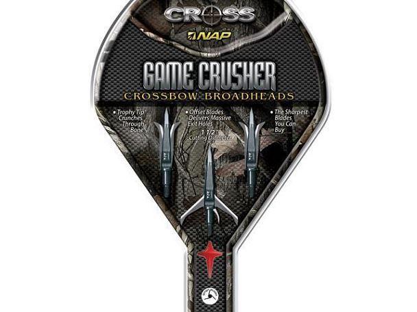 Pointes Chasse BARNETT Game CRUSHER (3 pointes 125 gr)