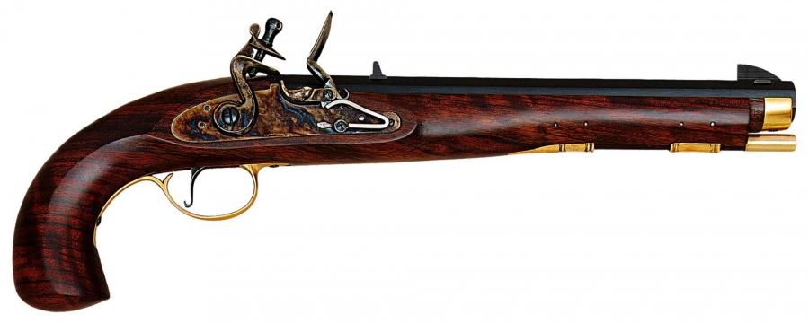 Pistolet à poudre noire PEDERSOLI Kentucky à silex Cal.45