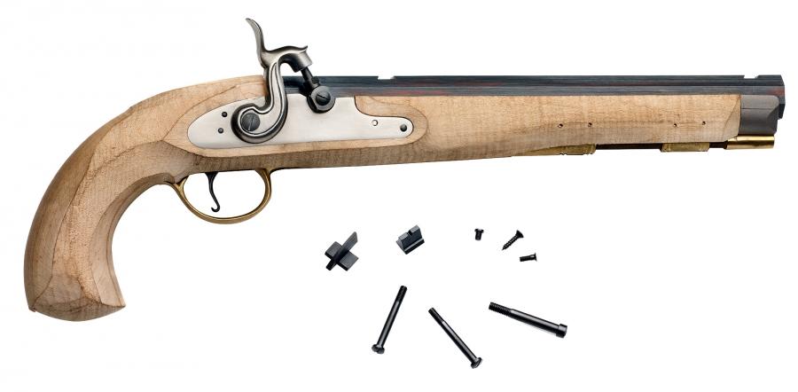 Kit pistolet à poudre noire PEDERSOLI Kentucky Maple à percussion - Cal.45
