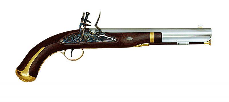 Pistolet à poudre noire PEDERSOLI Harper's Ferry (1806-1808) à silex Cal.58