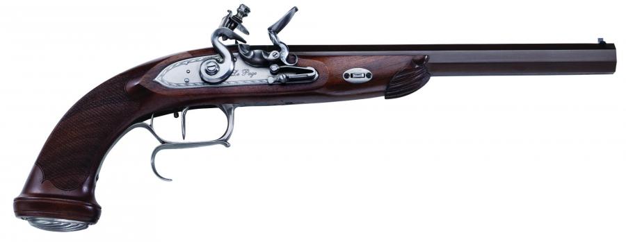 Pistolet à poudre noire PEDERSOLI Le Page à silex canon lisse Cal.45