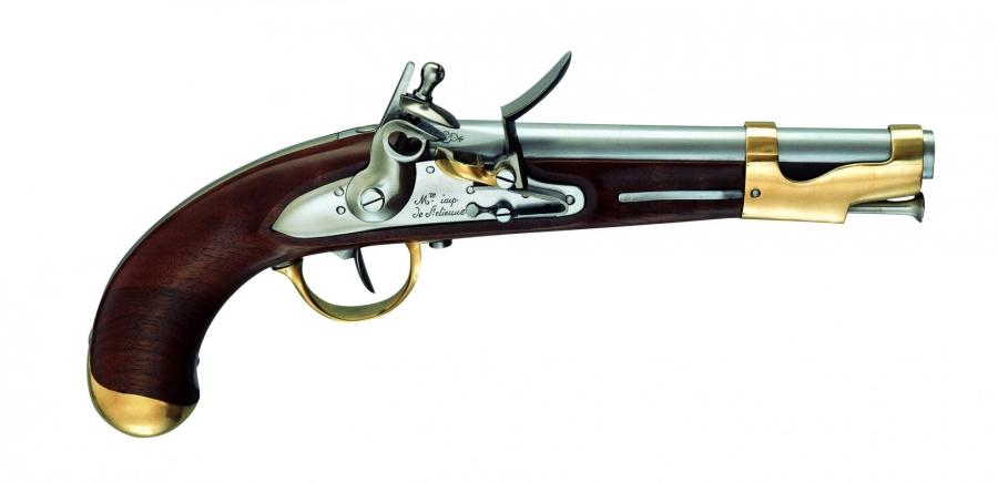 Pistolet à poudre noire PEDERSOLI An IX à silex Cal.17,5mm