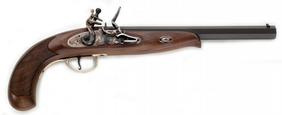 Pistolet à poudre noire PEDERSOLI Continental Duelling à silex Cal.44