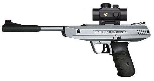 Pistolet � plombs Diana LP 8 Magnum Silver avec point rouge BZ30 (7,5 joules)