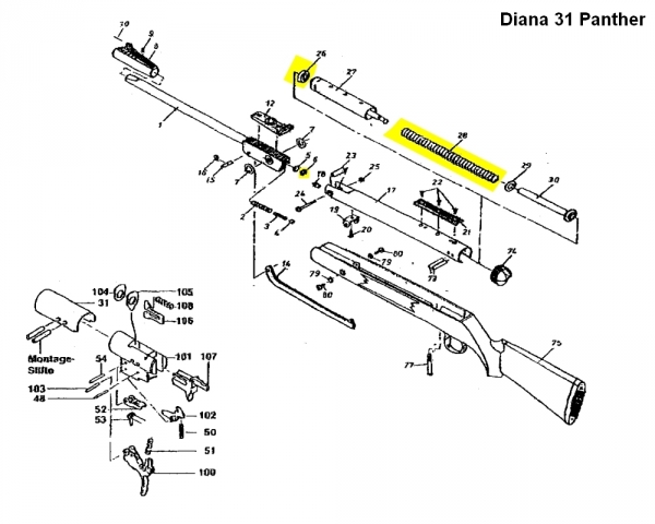 Kit de compression DIANA carabine Mod.31 Panther