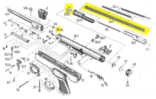 Kit de compression DIANA pistolet Mod.6